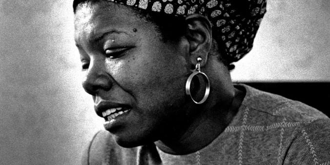A portriat of poet Maya Angelou on June 3, 1974.